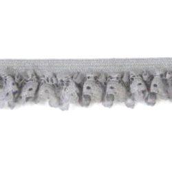 elastisch kant roesje grijs