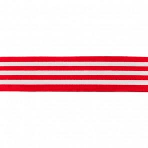 elastiek strepen 4cm rood