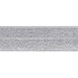 biaisband elastisch glitter licht zilver