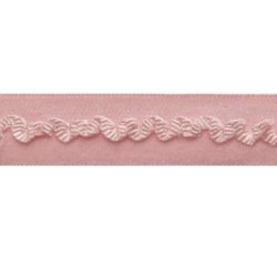 biaisband elastisch kantje roze