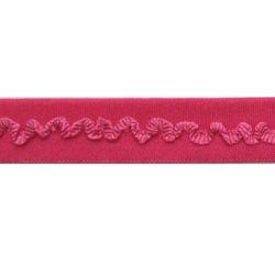 biaisband elastisch kantje fuchsia