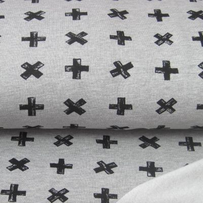 knip kruis plus grijs