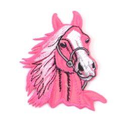 applicatie roze paard