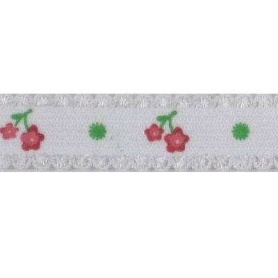 elast bloemenband rood