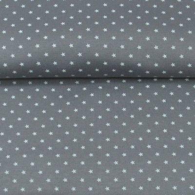 boordstof sterren grijs