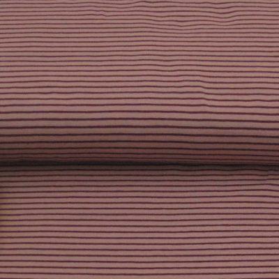 katoen stof streep-roze-aubergine
