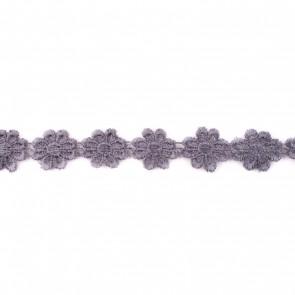 bloemenband grijs