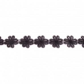 bloemenband zwart