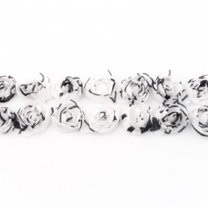 band roosjesoptule zwart-wit
