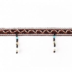 kralenband 06cm bruin
