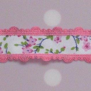 bloemenband donker roze