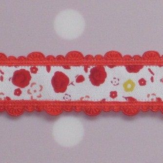 bloemenband rood