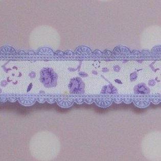 bloemenband paars
