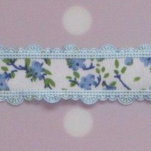 bloemenband lichtblauw