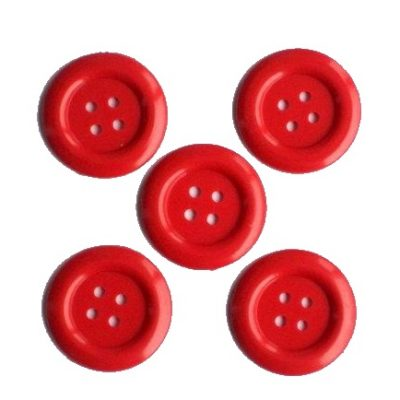 knoopjes medium-rood