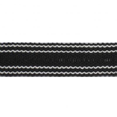 tresband 30mm zwartwit