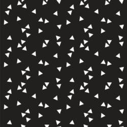 stof driehoekjes zwart