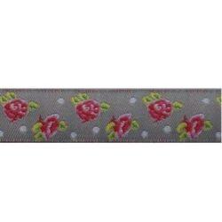 sierband bloemen grijs