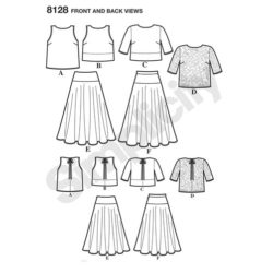 simplicity-dresses-pattern-8128-front-back-view